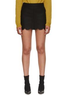 RED Valentino Black Scalloped Miniskirt