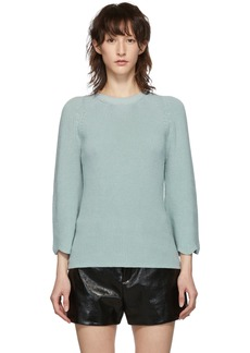 RED Valentino Blue Knit Scallop Sweater