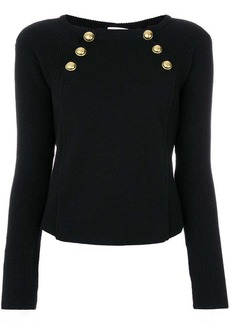 RED Valentino bolted boat neck sweater