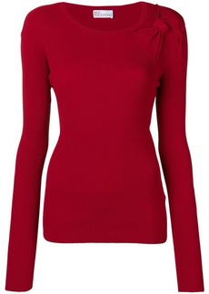 RED Valentino bow detail ribbed sweater