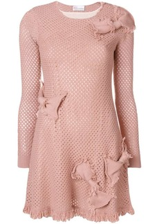 RED Valentino bow details knit dress