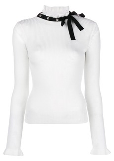 RED Valentino bow ribbed jumper