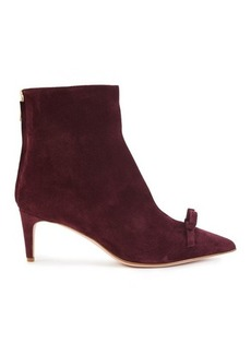 RED Valentino Bow suede ankle boots
