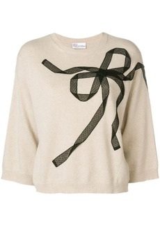 RED Valentino boxy lace bow sweater