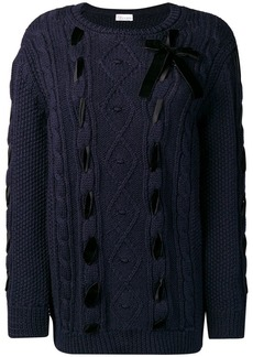 RED Valentino cable knitted jumper