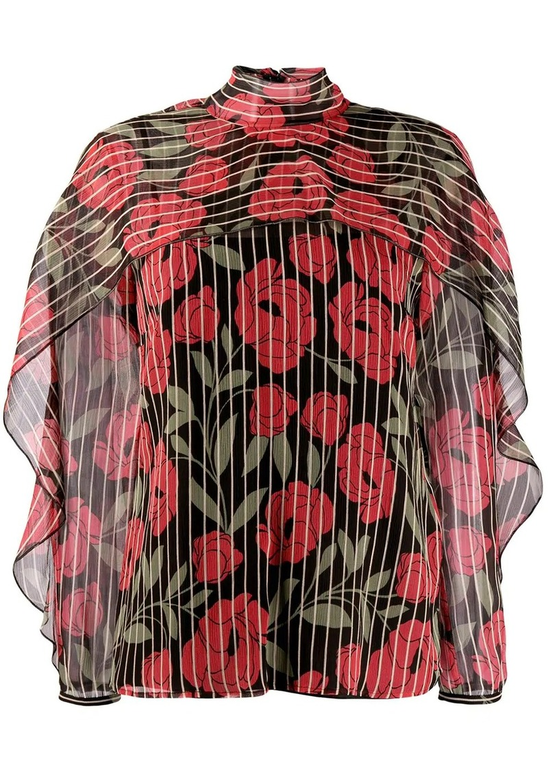 RED Valentino camellia printed blouse