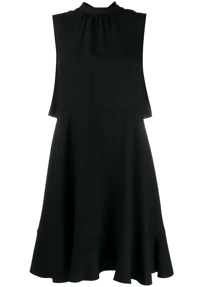 RED Valentino cape-style short dress