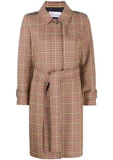 RED Valentino check-print single-breasted coat