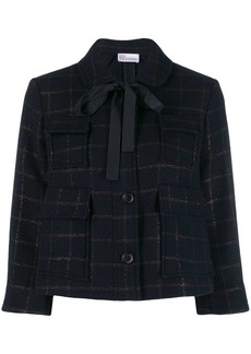 RED Valentino checked cropped jacket