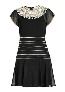 RED Valentino Chiffon Dress with Cut-Out Detail