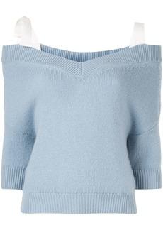 RED Valentino cold shoulder jumper