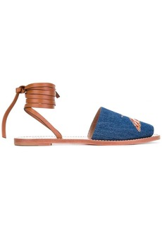 RED Valentino contrast sandals