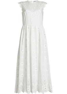 RED Valentino Cotton Dress with Lace Detail