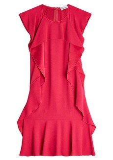 RED Valentino Crepe Dress with Ruffles