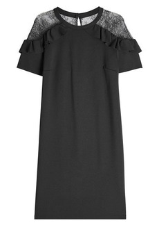 RED Valentino Crepe Shift Dress with Lace
