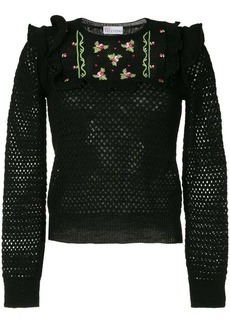 RED Valentino crocheted fitted sweater