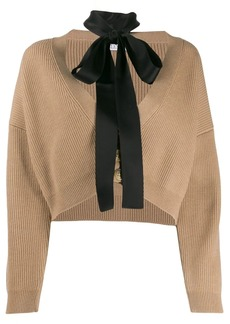 RED Valentino cropped cardigan with tie neck