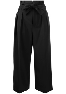 RED Valentino cropped high-waisted pleated trousers