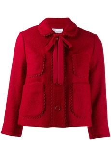 RED Valentino cropped scalloped accents jacket