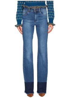 RED Valentino Denim Stretch Stone Washed & Resist Dyeing Pants