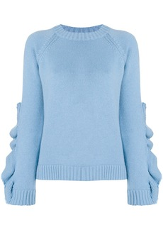 RED Valentino distressed detail sweater