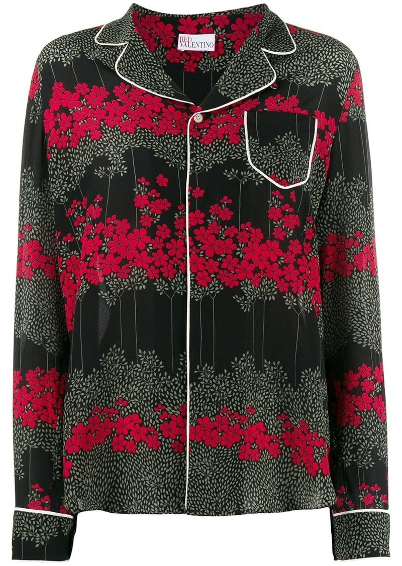 RED Valentino Dreaming Peony-print shirt