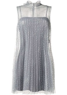 RED Valentino embellished tulle mini dress