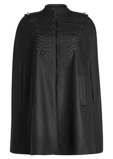 RED Valentino Embroidered Cape with Wool
