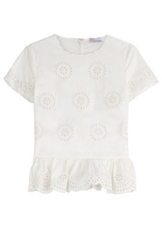 RED Valentino Embroidered Cotton Top