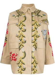 RED Valentino embroidered floral cargo jacket