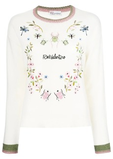 RED Valentino embroidered insect jumper