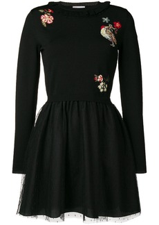 RED Valentino embroidered jumper-dress