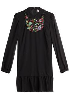 RED Valentino Embroidered Silk Dress