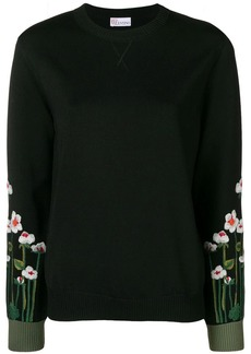 RED Valentino embroidered sleeves sweater