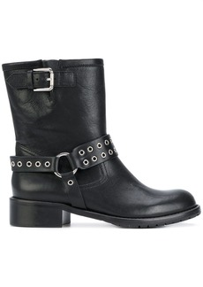 RED Valentino RED(V) eyelet harness boots