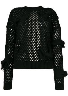 RED Valentino fishnet knit jumper