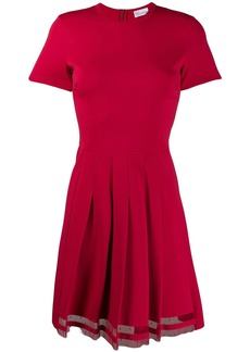 RED Valentino flare pleated dress