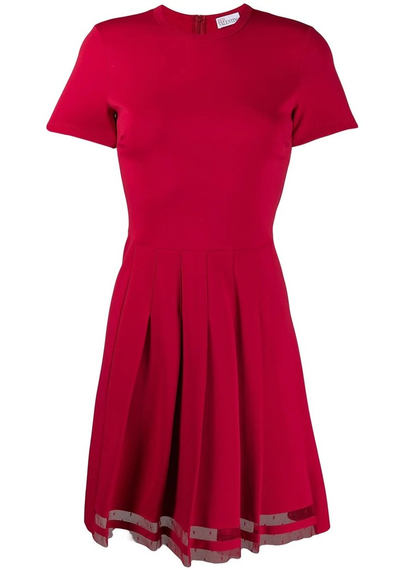 RED Valentino RED(V) flare pleated dress