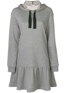 RED Valentino flared-hem hoodie dress