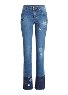RED Valentino Flared Jeans with Star Patches