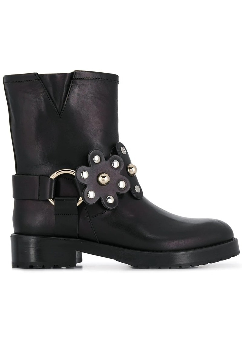 RED Valentino floral buckled boots