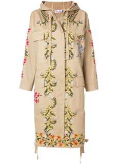 RED Valentino floral embroidered coat