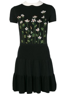 RED Valentino floral intarsia knit dress