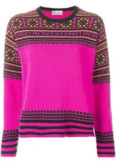 RED Valentino floral intarsia knit jumper