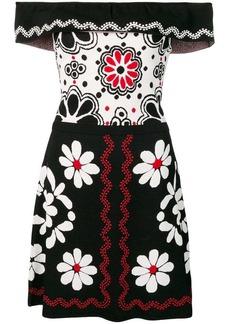 RED Valentino floral jacquard dress