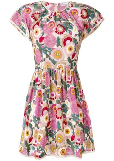 RED Valentino floral jacquard flared dress