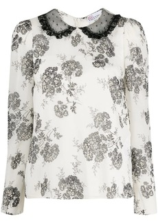 RED Valentino floral-print blouse
