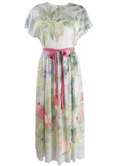 RED Valentino floral ribbon tea dress