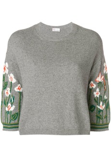 RED Valentino flowers on sleeves jumper