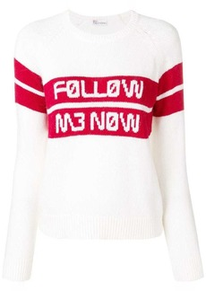 RED Valentino Follow Me Mow jacquard jumper